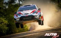 Kalle Rovanperä, al volante del Toyota Yaris WRC, durante el Rally de Turquía 2020, puntuable para el Campeonato del Mundo de Rallies WRC.
