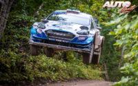 Teemu Suninen, al volante del Ford Fiesta WRC, durante el Rally de Estonia 2020, puntuable para el Campeonato del Mundo de Rallies WRC.