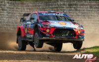 Craig Breen, al volante del Hyundai i20 Coupé WRC, durante el Rally de Estonia 2020, puntuable para el Campeonato del Mundo de Rallies WRC.