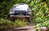 Eyvind Brynildsen, al volante del Skoda Fabia R5 EVO, durante el Rally de Estonia 2020, puntuable para el Campeonato del Mundo de Rallies WRC 2.