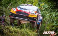 Jan Solans, al volante del Ford Fiesta R5 Mk2, durante el Rally de Estonia 2020, puntuable para el Campeonato del Mundo de Rallies WRC 3.
