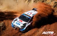 Teemu Suninen, al volante del Ford Fiesta WRC, durante el Rally de Turquía 2020, puntuable para el Campeonato del Mundo de Rallies WRC.