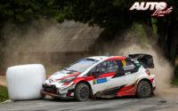 Takamoto Katsuta, al volante del Toyota Yaris WRC, durante el Rally de Estonia 2020, puntuable para el Campeonato del Mundo de Rallies WRC.