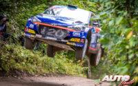Jari Huttunen, al volante del Hyundai i20 NG R5, durante el Rally de Estonia 2020, puntuable para el Campeonato del Mundo de Rallies WRC 3.