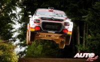 Sean Johnston, al volante del Citroën C3 R5, durante el Rally de Estonia 2020, puntuable para el Campeonato del Mundo de Rallies WRC 3.