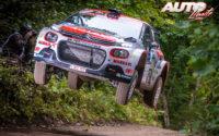 Nicolas Ciamin, al volante del Citroën C3 R5, durante el Rally de Estonia 2020, puntuable para el Campeonato del Mundo de Rallies WRC 3.