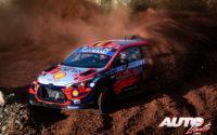 Thierry Neuville, al volante del Hyundai i20 Coupé WRC, durante el Rally de Turquía 2020, puntuable para el Campeonato del Mundo de Rallies WRC.