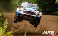 Priit Koik, al volante del Ford Fiesta R5, durante el Rally de Estonia 2020, puntuable para el Campeonato del Mundo de Rallies WRC 3.
