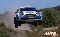 Teemu Suninen, al volante del Ford Fiesta WRC, durante el Rally de Italia / Cerdeña 2020, puntuable para el Campeonato del Mundo de Rallies WRC.