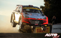 Ole Christian Veiby, al volante del Hyundai NG i20 R5 WRC 2, durante el Rally de Italia / Cerdeña 2020, puntuable para el Campeonato del Mundo de Rallies WRC 2.