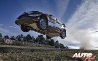 Takamoto Katsuta, al volante del Toyota Yaris WRC, durante el Rally de Italia / Cerdeña 2020, puntuable para el Campeonato del Mundo de Rallies WRC.