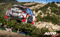 Yohan Rossel, al volante del Citroën C3 R5 WRC 3, durante el Rally de Italia / Cerdeña 2020, puntuable para el Campeonato del Mundo de Rallies WRC 3.