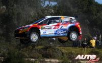 Jan Solans, al volante del Ford Fiesta Mk2 R5 WRC 3, durante el Rally de Italia / Cerdeña 2020, puntuable para el Campeonato del Mundo de Rallies WRC 3.