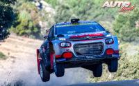 Mads Ostberg, al volante del Citroën C3 R5 WRC 2, durante el Rally de Italia / Cerdeña 2020, puntuable para el Campeonato del Mundo de Rallies WRC 2.
