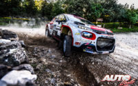 Nicolas Ciamin, al volante del Citroën C3 R5 WRC 3, durante el Rally de Italia / Cerdeña 2020, puntuable para el Campeonato del Mundo de Rallies WRC 3.