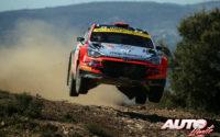 Nikolay Gryazin, al volante del Hyundai NG i20 R5 WRC 2, durante el Rally de Italia / Cerdeña 2020, puntuable para el Campeonato del Mundo de Rallies WRC 2.