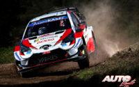 Elfyn Evans, al volante del Toyota Yaris WRC, durante el Rally de Italia / Cerdeña 2020, puntuable para el Campeonato del Mundo de Rallies WRC.