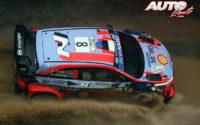 Ott Tänak, al volante del Hyundai i20 Coupé WRC, durante el Rally de Monza 2020, puntuable para el Campeonato del Mundo de Rallies WRC.