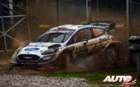 Esapekka Lappi, al volante del Ford Fiesta WRC, durante el Rally de Monza 2020, puntuable para el Campeonato del Mundo de Rallies WRC.