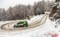 Andreas Mikkelsen, al volante del Skoda Fabia R5 Evo WRC 3, durante el Rally de Monza 2020, puntuable para el Campeonato del Mundo de Rallies WRC 3.