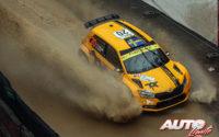 Pontus Tidemand, al volante del Skoda Fabia R5 Evo WRC 2, durante el Rally de Monza 2020, puntuable para el Campeonato del Mundo de Rallies WRC 2.