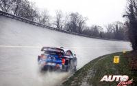 Ole Christian Veiby, al volante del Hyundai i20 Coupé WRC, durante el Rally de Monza 2020, puntuable para el Campeonato del Mundo de Rallies WRC.