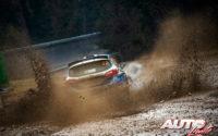 Adrien Fourmaux, al volante del Ford Fiesta R5 Mk2 WRC 2, durante el Rally de Monza 2020, puntuable para el Campeonato del Mundo de Rallies WRC 2.