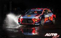 Thierry Neuville, al volante del Hyundai i20 Coupé WRC, durante el Rally de Monza 2020, puntuable para el Campeonato del Mundo de Rallies WRC.