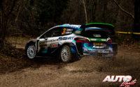 Teemu Suninen, al volante del Ford Fiesta WRC, durante el Rally de Monza 2020, puntuable para el Campeonato del Mundo de Rallies WRC.