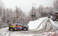 Jari Huttunen, al volante del Hyundai i20 NG R5 WRC 3, durante el Rally de Monza 2020, puntuable para el Campeonato del Mundo de Rallies WRC 3.