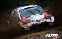 Takamoto Katsuta, al volante del Toyota Yaris WRC, durante el Rally de Monza 2020, puntuable para el Campeonato del Mundo de Rallies WRC.