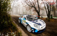 Pierre Ragues, al volante del Alpine A110 RGT, durante el Rally de Monza 2020, puntuable para el Campeonato del Mundo de Rallies WRC.