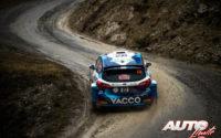 Adrien Fourmaux, al volante del Ford Fiesta Rally2 Mk2 WRC 2, durante el Rally de Montecarlo 2021, puntuable para el Campeonato del Mundo de Rallies WRC 2.