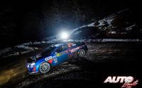Emmanuel Guigou, al volante del Alpine A110 RGT, durante el Rally de Montecarlo 2021, puntuable para el Campeonato del Mundo de Rallies WRC.