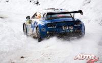 Cédric Robert, al volante del Alpine A110 RGT, durante el Rally de Montecarlo 2021, puntuable para el Campeonato del Mundo de Rallies WRC.