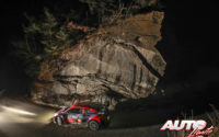 Thierry Neuville, al volante del Hyundai i20 Coupé WRC, durante el Rally de Montecarlo 2021, puntuable para el Campeonato del Mundo de Rallies WRC.