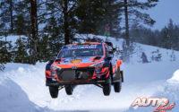 Craig Breen, al volante del Hyundai i20 Coupé WRC, durante el Rally Ártico de Finlandia 2021, puntuable para el Campeonato del Mundo de Rallies WRC.