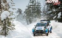 Teemu Suninen, al volante del Ford Fiesta WRC, durante el Rally Ártico de Finlandia 2021, puntuable para el Campeonato del Mundo de Rallies WRC.