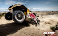 Stéphane Peterhansel, al volante del Peugeot 3008 DKR Maxi, durante una etapa del Rally Dakar 2018.