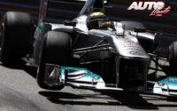 Nico Rosberg, al volante del Mercedes-AMG F1 W02, durante el GP de Mónaco 2011 de Fórmula 1, disputado en el circuito urbano de Montecarlo.