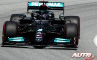Mercedes da lecciones de estrategia. GP España 2021