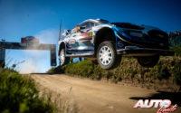 Gus Greensmith, al volante del Ford Fiesta WRC, durante el Rally de Portugal 2021, puntuable para el Campeonato del Mundo de Rallies WRC.