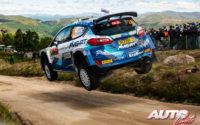 Teemu Suninen, al volante del Ford Fiesta Rally2 Mk2 WRC 2, durante el Rally de Portugal 2021, puntuable para el Campeonato del Mundo de Rallies WRC 2.
