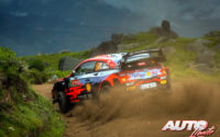 Dani Sordo, al volante del Hyundai i20 Coupé WRC, durante el Rally de Portugal 2021, puntuable para el Campeonato del Mundo de Rallies WRC.