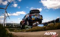 Adrien Fourmaux, al volante del Ford Fiesta WRC, durante el Rally de Portugal 2021, puntuable para el Campeonato del Mundo de Rallies WRC.