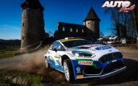 Teemu Suninen, al volante del Ford Fiesta Rally2 Mk2 WRC 2, durante el Rally de Croacia 2021, puntuable para el Campeonato del Mundo de Rallies WRC 2.