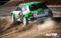 Andreas Mikkelsen, al volante del Skoda Fabia Rally2 Evo WRC 2, durante el Rally de Croacia 2021, puntuable para el Campeonato del Mundo de Rallies WRC 2.