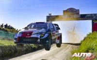 Kalle Rovanperä, al volante del Toyota Yaris WRC, durante el Rally de Portugal 2021, puntuable para el Campeonato del Mundo de Rallies WRC.