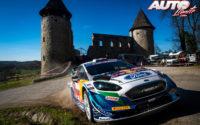 Adrien Fourmaux, al volante del Ford Fiesta WRC, durante el Rally de Croacia 2021, puntuable para el Campeonato del Mundo de Rallies WRC.
