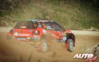 Jan Solans, al volante del Citroën C3 Rally2 WRC 3, durante el Rally de Portugal 2021, puntuable para el Campeonato del Mundo de Rallies WRC 3.